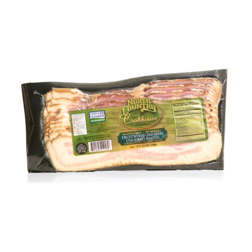 North Country Fruitwood Smoked Uncured Bacon 12 oz.