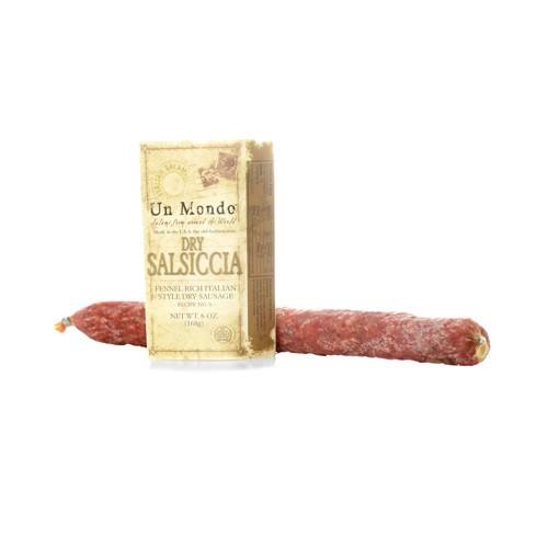 Un Mondo Dry Salsiccia Fennel Rich Italian Style Dry Sausage 6 oz