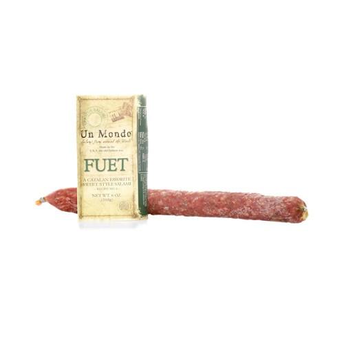 Un Mondo Fuet A Catalan Favorite Sweet Style Salami 6 oz.