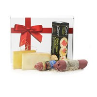 Salami and cheese gift box