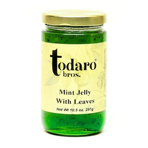 Mint Jelly with Leaves (Todaro Bros.)